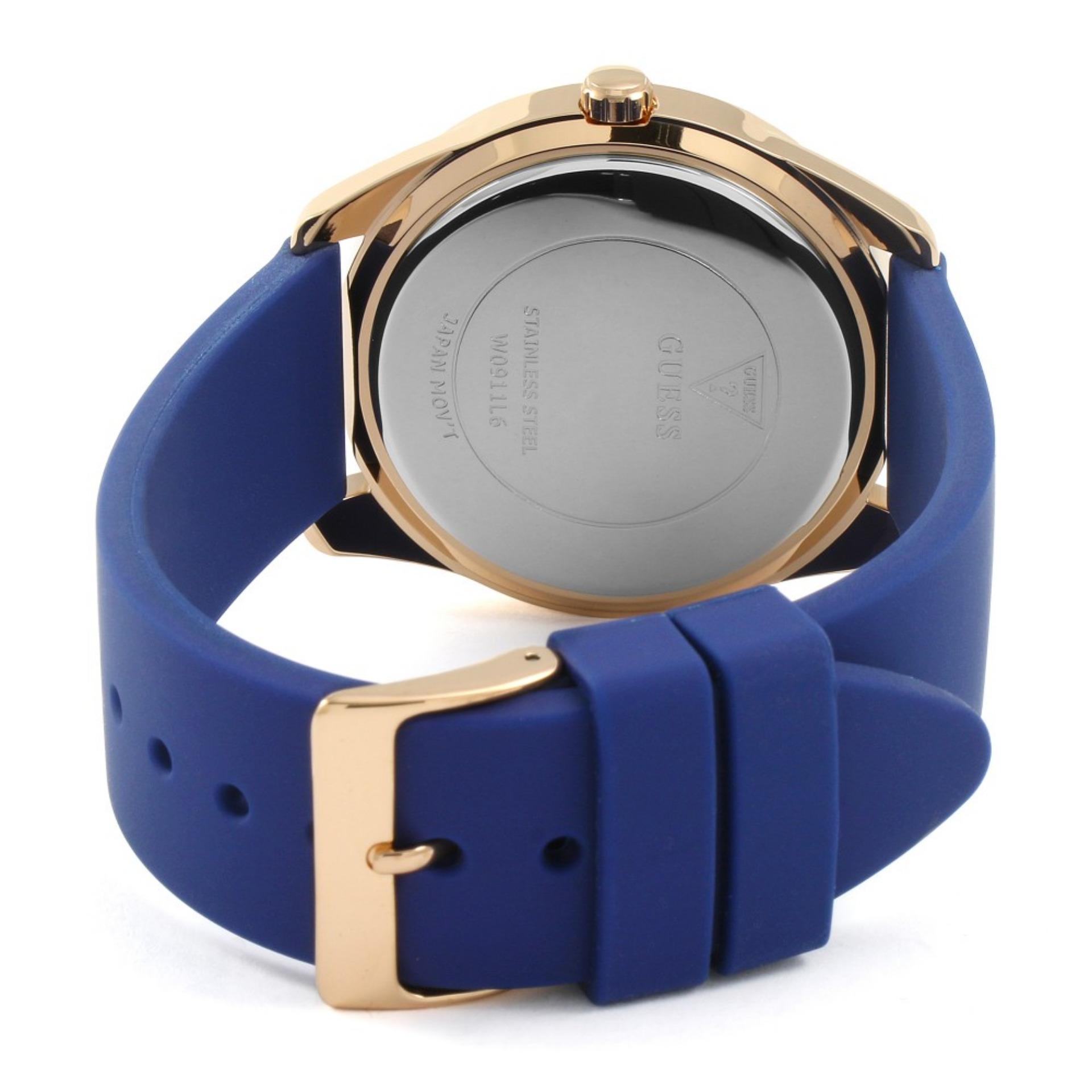 Bandingkan Simpan Guess Jam Tangan Wanita W0911l6 G Twist Blue W0335l3 Multifunction Rosegold Stainless Steel Silicone Watch