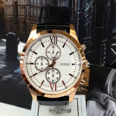 Guess Premium - Jam Tangan Pria - Leather Strap - Guess W0366G1