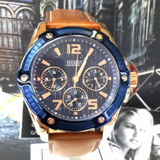 Guess Premium - Jam Tangan Pria - Leather Strap - Guess W0600G3