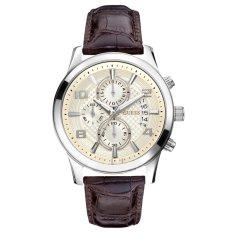 Guess W0076G2 Chronograph Jam Tangan Pria - Coklat