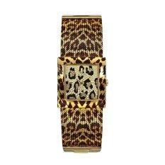 Guess W0332L1 - Jam Tangan Wanita - Leopard - Stainless steel