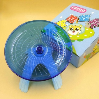 Hamster Exercise Flying Saucer Wheel Gerbil Fitness Gyro RunningGame Toy - intl
