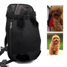 hannier legs out frontfacing dog carrier handsfree adjustable pet backpack carrier for walking hiking bike and motorcycle black l intl