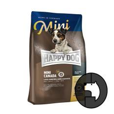 happy dog supreme mini 4 kg mini adult canada with salmon rabbit lamb and potato