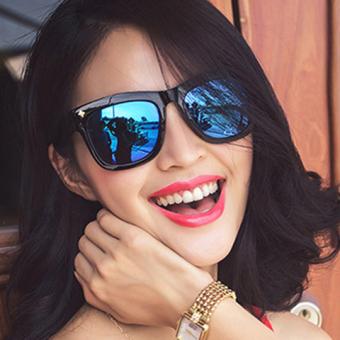 Harajuku kepribadian merah perempuan baru kacamata hitam kacamata hitam kacamata hitam kacamata hitam