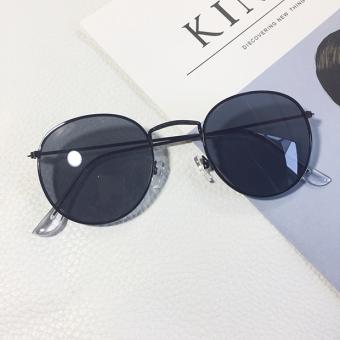 Harajuku Korea perempuan gaya mahasiswa baru kacamata hitam kacamata hitam