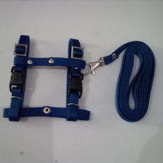 Harness H uk S + Leash Biru Tua untuk Kucing, Kelinci, Musang, Puppy Small breed