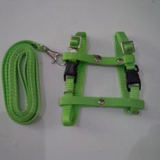Harness H uk S + Leash Hijau Pupus untuk Kucing, Kelinci, Musang, Puppy Small breed