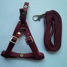 Harness Y uk S + Leash Merah Maroon untuk Kucing, Kelinci, Musang, Puppy Small breed
