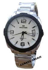 Hegner - H3921L - Jam Tangan Wanita - Stainless - Silver List Hitam