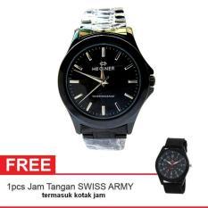 Hegner Man Watch Jam Tangan Pria - Hitam - Strap Stainless Steel -