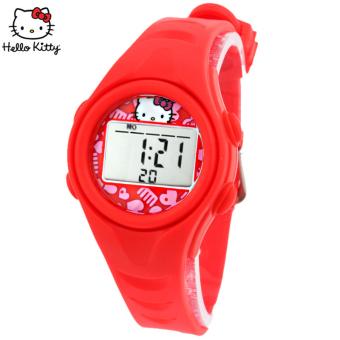 Online murah Hello Kitty Gadis Tahan Air Perempuan Jam Tangan Jam Tangan Anak Perbandingan harga