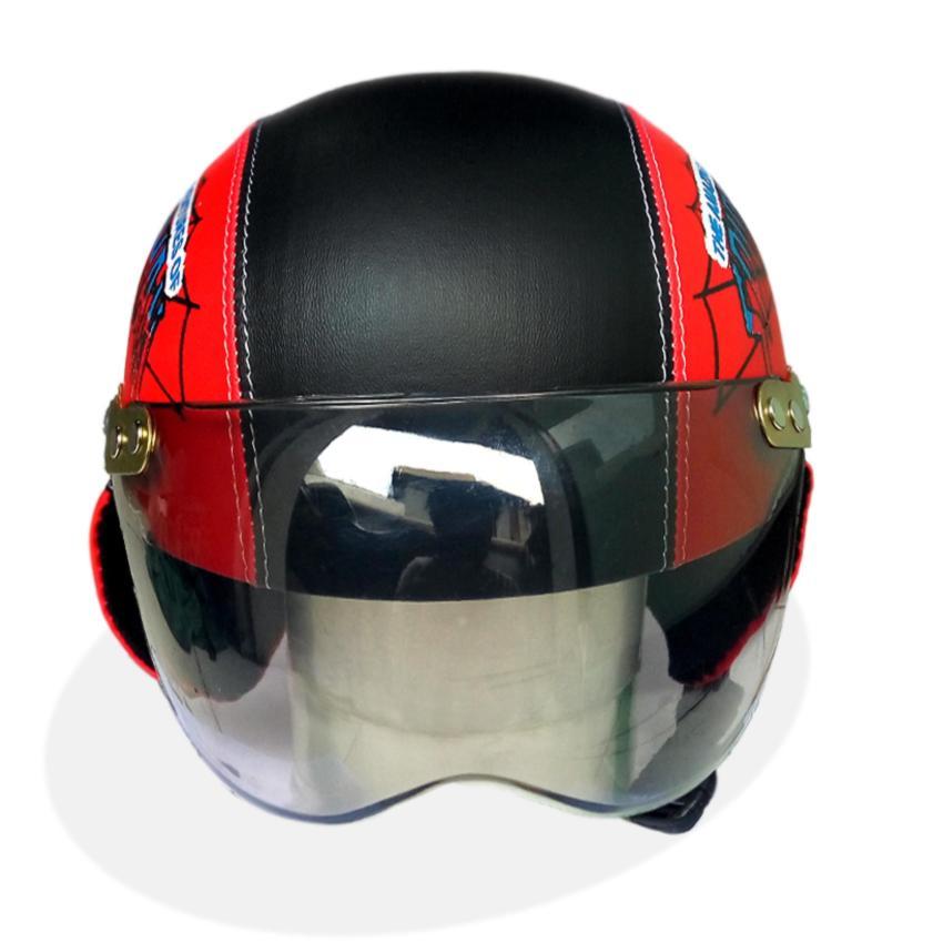 Merah Source · Helm Anak Unyu unyu Model Retro Karakter Spiderman 1 5 .