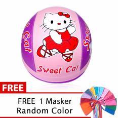 Helm Anak Unyu-Unyu Usia 1- 5 Tahun Motif Hello Kitty - Pink/