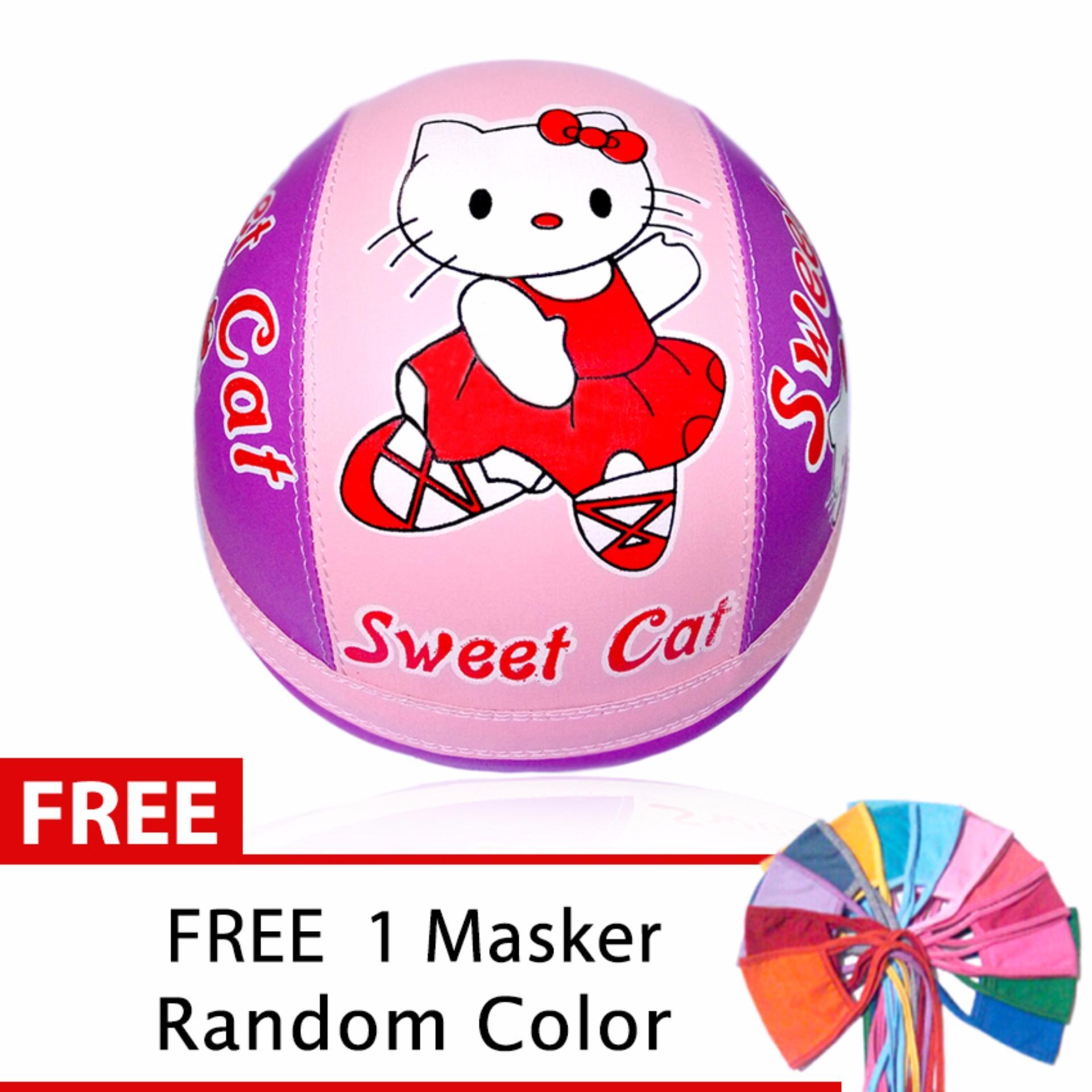 Helm Anak Unyu-Unyu Usia 1- 5 Tahun Motif Hello Kitty .