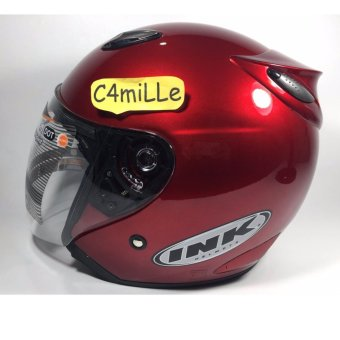 HELM INK CENTRO ORIGINAL RED MAROON HALF FACE