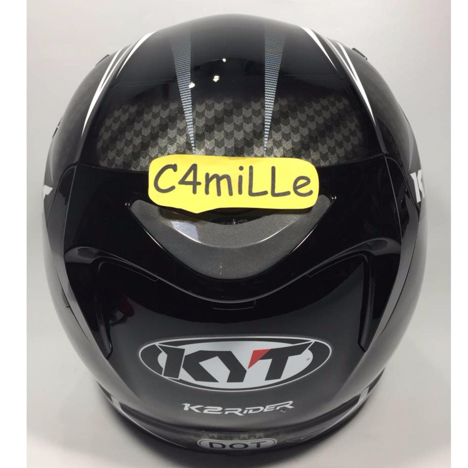 Snail Helm Half Face Retro 622 Double Visor Mika Panjang Hitam 310 White With Revo Green Kyt K2 Rider Spotlight Black Fluo Full