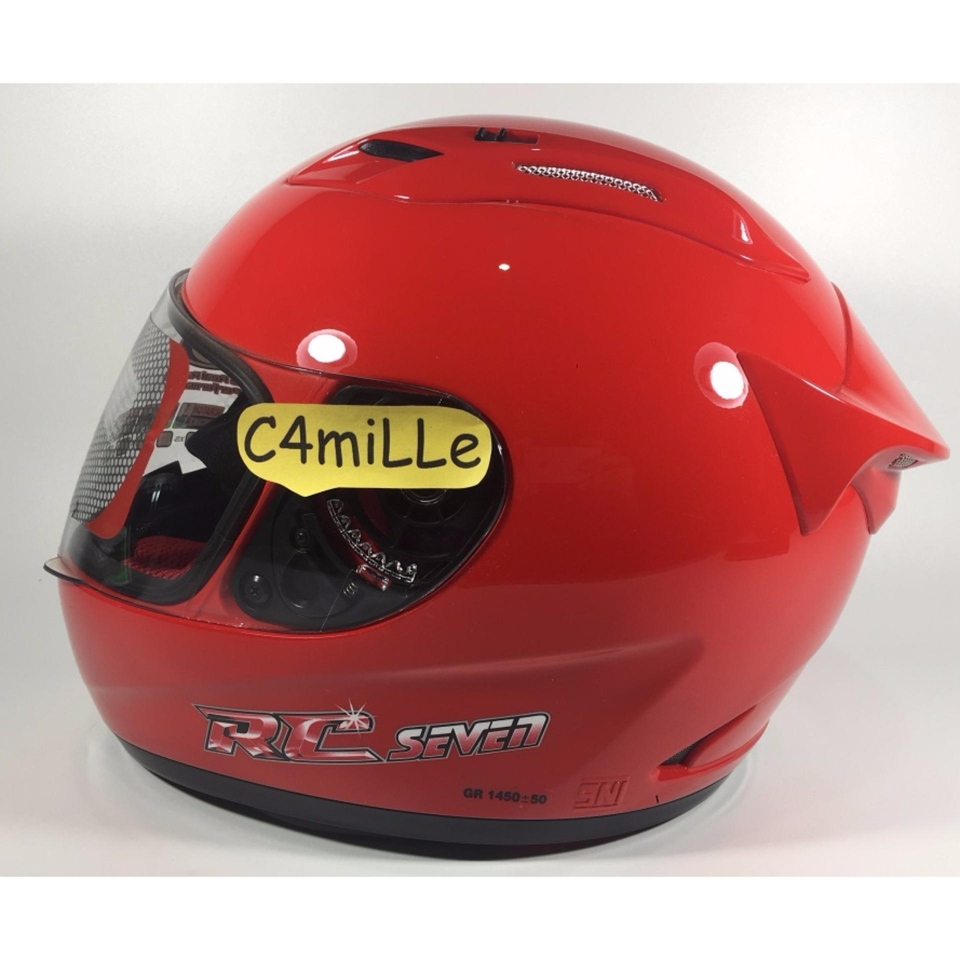 HELM KYT RC 7 / RC SEVEN FIRE RED FULL FACE .