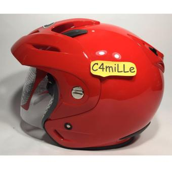 HELM KYT ROMEO SOLID FIRE RED HALF FACE