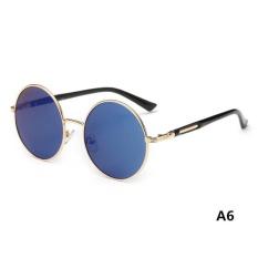 Hot Vintage Polarized John Lennon Sunglasses Hippie Retro RoundMirrored Glasses - intl