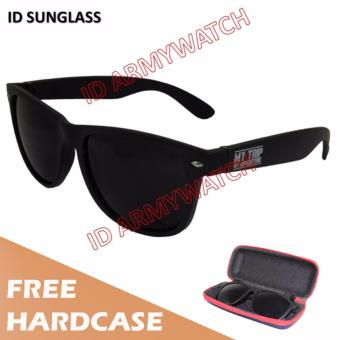 ID Sunglass - Kacamata Wayfarer Pria Wanita - Frame Hitam - Lensa Hitam SUN 1016-02