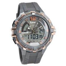 ... Rp 520 190 IGear Dual Time Jam Tangan Sport Pria Rubber Strap IG I241978 Grey OrangeIDR520190