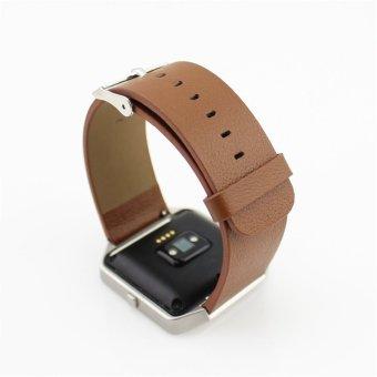 Penggantian kulit asli tali pengikat pergelangan tangan gelang jam untuk Fitbit Blaze Krida pelacak jam pintar