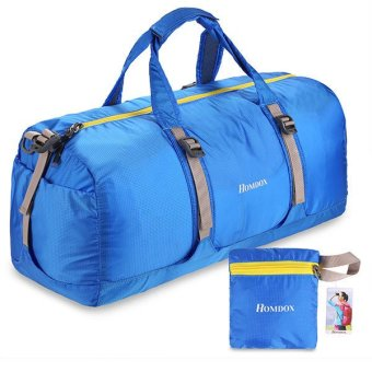 Harga Cyber Homdox Portable Folding 41L Packable Handle Travel Bag (Blue)