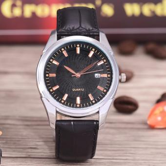 Harga Costie Land - Jam Tangan Pria - Body Silver/Black Dial -Costie Land -CL- 5500D-G-SB-TGL-(RoseGold)-Black Leather