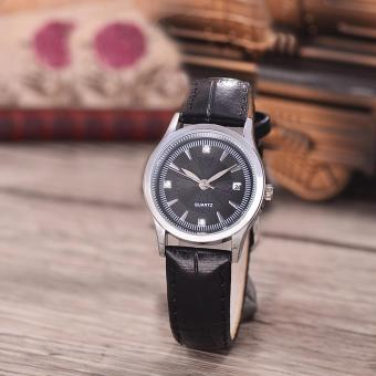 Harga Costie Land - Jam Tangan Wanita - Body Silver/Black Dial -Costie Land -CL- 5519A-L-SB-TGL-(Silver)-Black Leather