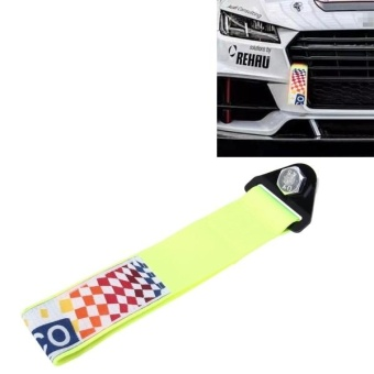 Harga Sparco Universal Front Rear Racing Car Tow Towing Strap Bumper Hook Up To 10000 LBS(4.5T)(Fluorescent Green Light) - intl