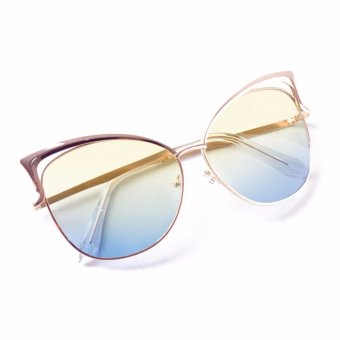 Paroparoshop Carol Sunglasses - Yellowish Blue