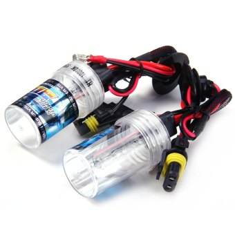 Harga MiniCar 2pcs H1 12V 55W 4000lm 10000K HID Xenon Head Lamp Car Headlamp(Color:White) - intl