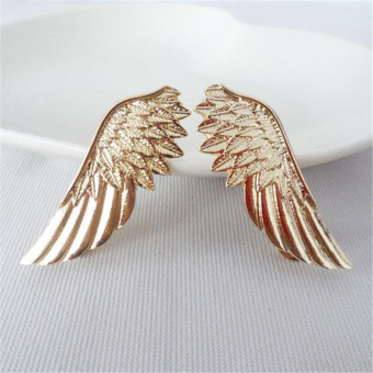 Harga Amango 2pcs Hot Fashion Punk Wings Style Collar Brooches Pins for Women Jewelry Gift Gold