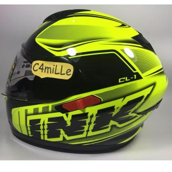 Harga HELM INK CL1 SUPER FLUO 02 YELLOW FLUO BLACK DOUBLE VISOR FULL FACE