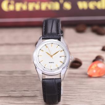 Harga Costie Land - Jam Tangan Wanita - Body Silver/White Dial -Costie Land -CL- 5500E-L-SW-TGL-(Gold)-Black Leather