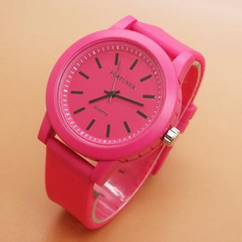 ... Fortuner Jam Tangan Wanita Rubber Strap FRhf4867 Pink