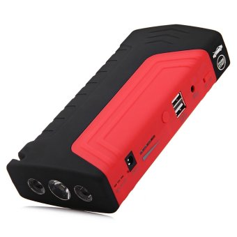 Harga MiniCar 12V Automobile Emergency Mobile Power Supply Jump Starter with LED Lighting Charging Red size:eu plug(Color:Red) - intl