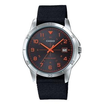 Harga Casio Standard MTP-V008B-1B (Black Cloth Band)