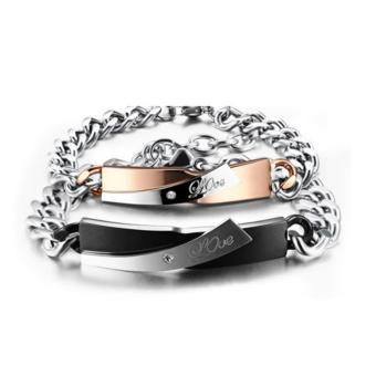 Harga Gelang Tangan Couple Stainless Steel 316L 001