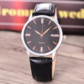 Harga Costie Land - Jam Tangan Pria - Body Silver/Black Dial -Costie Land -CL- 5513E-G-SB-TGL-(RoseGold)-Black Leather