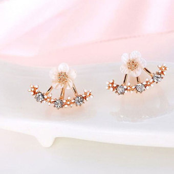 Harga S925 Daisy flower after hanging earrings(rose gold)