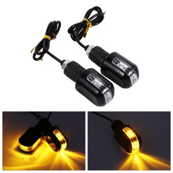 Harga Motorcycle 7/8'' Handle Turn Signal Indicator Amber Light - intl