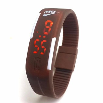 Harga JAM TANGAN LED NIKE - BROWN