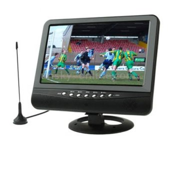 Harga TV Tuner TFT LCD Color Analog TV 7.5 inch with Wide View Angle - Black