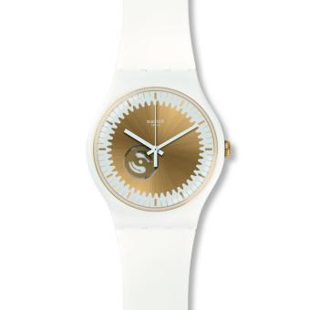 Swatch - Jam Tangan Wanita - Putih -Gold - Rubber Putih - SUOW144 Sunsplash da12c9ef1b