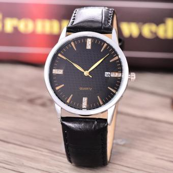 Harga Costie Land - Jam Tangan Pria - Body Silver/Black Dial -Costie Land -CL- 5513C-G-SB-TGL-(Gold)-Black Leather
