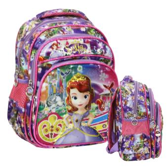 Harga Onlan Sofia The First 6D Timbul Lapis Anti Gores Tas Ransel PG Unik Import - Purple