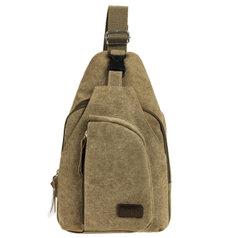 ... JoIn Men Fashion Retro Canvas Satchel Hiking Cycling Shoulder Bag Cross Body Chest Bag Size Small