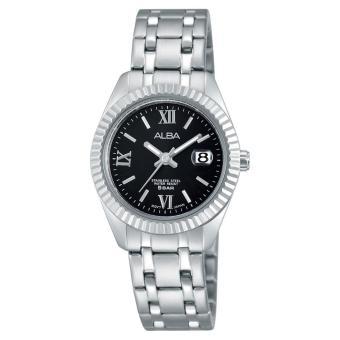 Alba Fashion Jam Tangan Wanita - Tali Stainless Steel - Silver - AH7G13X1